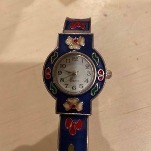 enamel watch bracelet